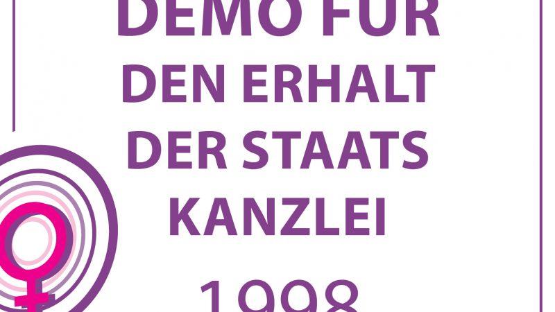 1998-DEMO FÜR DEN ERHALT DER STAATSKANZLEI